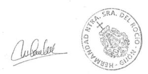 Carta de la Hermandad de Nuestra Señora del Rocío de Gijón